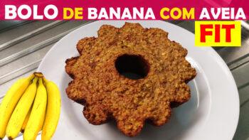 Bolo de Banana com Aveia Fitness