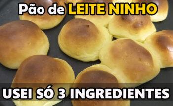 Pão de Leite Ninho com 3 Ingredientes
